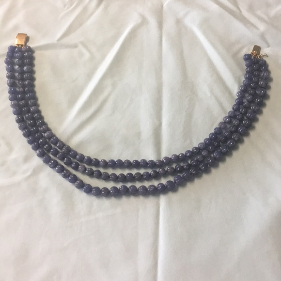 handmade, no maker label Jewelry - Triple strand Blue lace agate necklace